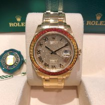 Rolex Pearlmaster Yellow gold 39mm Champagne Roman numerals