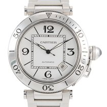 Cartier Pasha Seatimer Steel 40mm Silver Arabic numerals United Kingdom, London