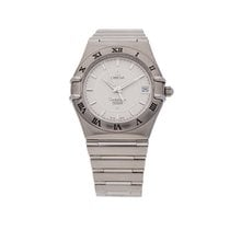 Omega Constellation pre-owned 35mm Silver Date Perpetual calendar Steel