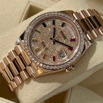 Rolex Day-Date 36 Ouro rosa 36mm Cor-de-rosa Sem números