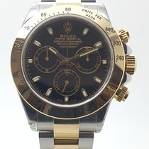 Rolex Daytona Acero y oro 40mm Negro Sin cifras