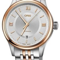 Oris Rose gold Automatic Silver Roman numerals 42mm new Classic