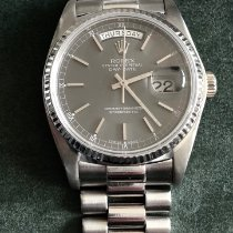 Rolex Day-Date 36 Witgoud 36mm Grijs Geen cijfers Nederland, Duiven