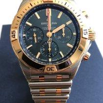 Breitling Chronomat Goud/Staal 42mm Blauw Geen cijfers Nederland, Duiven