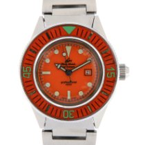 Philip Watch Caribe Steel 34mm Orange No numerals