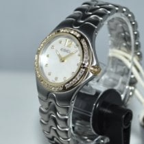 Ebel new Quartz Central seconds Gemstones and/or diamonds Luminous hands Quick Set Only Original Parts 28,4mm Gold/Steel Sapphire crystal