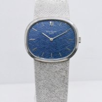Patek Philippe White gold Manual winding Blue No numerals 32mm pre-owned Golden Ellipse
