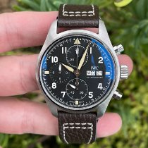 IWC Steel Automatic Black Arabic numerals 41mm pre-owned Pilot Spitfire Chronograph