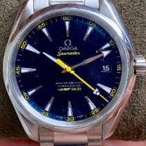 Omega Seamaster Aqua Terra pre-owned Blue Date Steel