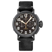 Zenith Steel Automatic Black Arabic numerals 45mm new Pilot Type 20