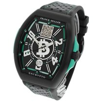 Franck Muller new Automatic Luminous numerals Limited Edition PVD/DLC coating 41mm Titanium Sapphire crystal