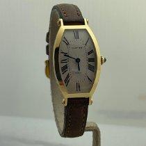 Cartier Tonneau Gelbgold 21mm Weiß Römisch