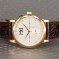 A. Lange & Söhne Yellow gold No numerals 33.9mm pre-owned Saxonia