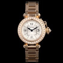 Cartier Pasha Pозовое золото 27mm Cеребро Aрабские