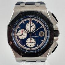 Audemars Piguet Platinum Automatic Blue 44mmmm pre-owned Royal Oak Offshore Chronograph
