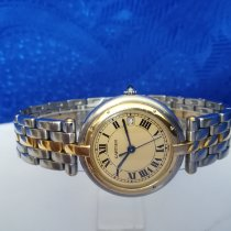 Cartier Gold/Stahl 30mm Quarz gebraucht