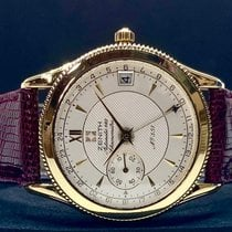 Zenith Yellow gold Automatic White 36mm pre-owned Elite