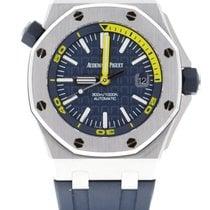 Audemars Piguet Royal Oak Offshore Diver Staal 42mm Blauw Geen cijfers