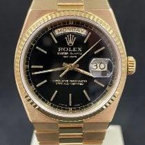 Rolex Day-Date Oysterquartz Κίτρινο χρυσό 36mm Μαύρο Xωρίς ψηφία