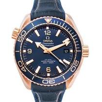 Omega Seamaster Planet Ocean Pозовое золото 43.5mm Синий