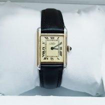 Cartier Tank Vermeil Srebro 23mm Boja šampanjca Rimski brojevi