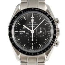 Omega Stahl Handaufzug Schwarz 42mm gebraucht Speedmaster Professional Moonwatch