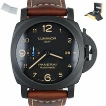 Panerai Luminor 1950 3 Days GMT Automatic Керамика 44mm Черный Aрабские