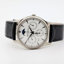 Jaeger-LeCoultre Master Ultra Thin Perpetual White gold 39mm Silver
