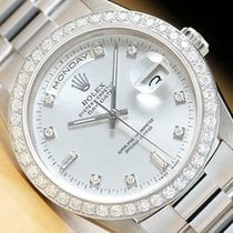 Rolex Day-Date 36 White gold 36mm Silver United States of America, California, Chino Hills