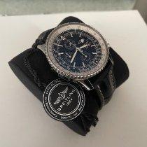 Breitling Navitimer 1461 gebraucht 46mm Schwarz Mondphase Chronograph Datum Wochentagsanzeige Monatsanzeige Vierjahreskalender Leder