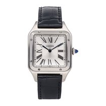 Cartier WSSA0022 Steel Santos Dumont 43.5mm pre-owned United States of America, Pennsylvania, Bala Cynwyd