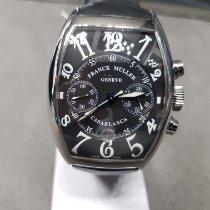 Franck Muller Casablanca Steel 55.4mm Black Arabic numerals