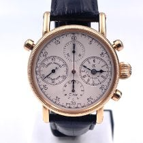 Chronoswiss Chronograph Rattrapante Rose gold 38mm White
