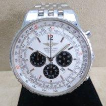 Breitling Navitimer Heritage gebraucht 43mm Silber Chronograph Datum Stahl