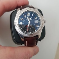 Breitling Colt GMT Steel 40mm Blue Arabic numerals