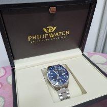 Philip Watch Caribe Steel 42mm Blue No numerals