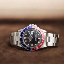 Rolex GMT-Master Stahl 40mm Schwarz Keine Ziffern Schweiz, Ascona
