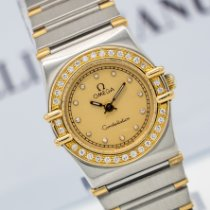 Omega Constellation Ladies Gold/Steel 24mm Champagne