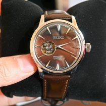 Seiko Presage Steel 40mm Brown No numerals United States of America, Massachusetts, Boston