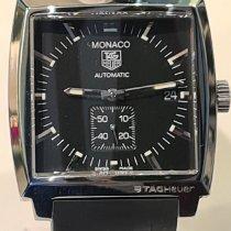 TAG Heuer Monaco Calibre 6 Stahl 37mm Schwarz Keine Ziffern