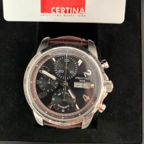 Certina DS Podium pre-owned 40mm Black Chronograph Date Weekday Tachymeter Leather