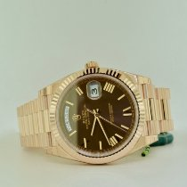 Rolex Day-Date 40 Rose gold 40mm Brown Roman numerals United States of America, New York, Massapequa
