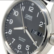 Oris Big Crown ProPilot Day Date pre-owned 45mm Black Date Weekday Textile