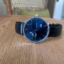 Glashütte Original Senator Excellence pre-owned 42mm Blue Moon phase Date Crocodile skin