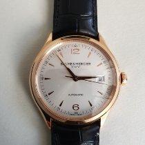 Baume & Mercier Clifton Rose gold 39mm Silver Arabic numerals