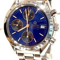 Omega Speedmaster tweedehands 39mm Blauw Chronograaf Datum Staal