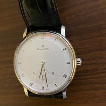 Blancpain White gold Automatic Silver 40mm pre-owned Villeret