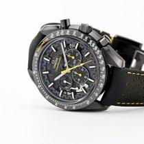 Omega Carbon Handaufzug Schwarz Keine Ziffern 44.25mm neu Speedmaster Professional Moonwatch