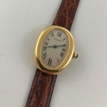 Cartier Baignoire Желтое золото 31mm Белый Римские