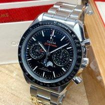 Omega Speedmaster Professional Moonwatch Moonphase occasion 44.25mm Noir Phase lunaire Chronographe Date Acier